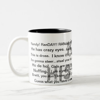 El presente perfecto taza de café de dos colores