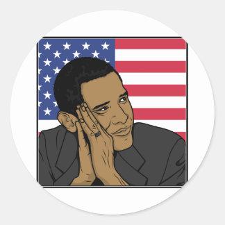 El presidente Barack Obama Pegatina Redonda
