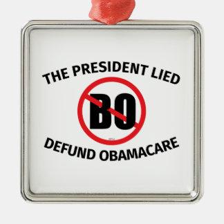 El presidente Lied Adorno Cuadrado Plateado