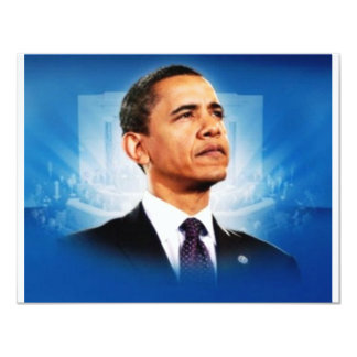 """El presidente Obama Invitación 4.25"""" X 5.5"""""""