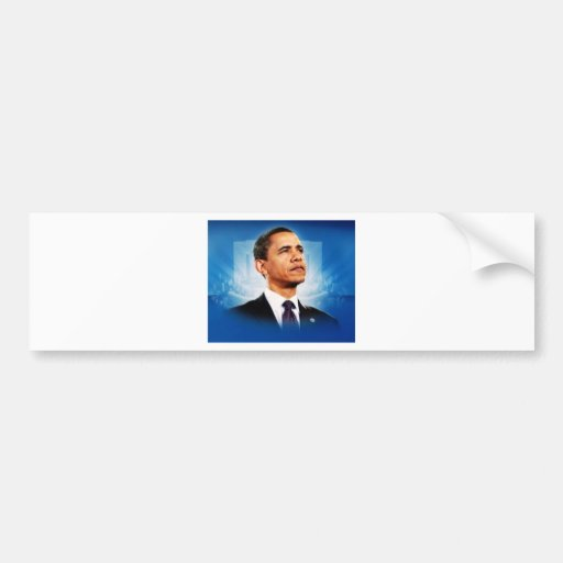El presidente Obama Pegatina Para Auto