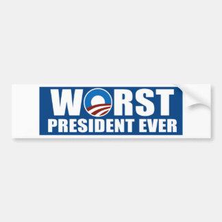 El presidente peor Ever Etiqueta De Parachoque