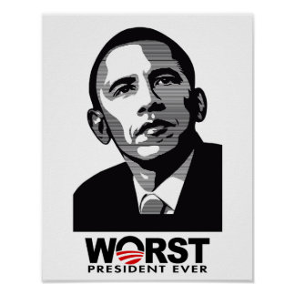 El presidente peor Ever de Barack Obama Póster