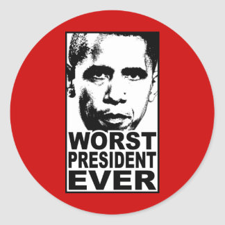 El presidente peor Ever de Obama Pegatina