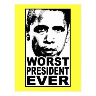 El presidente peor Ever de Obama Tarjeta Postal