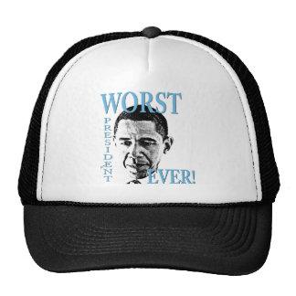 ¡El presidente peor Ever Gorros Bordados