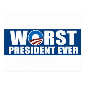El presidente peor Ever Postal