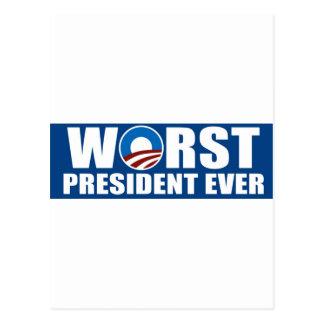 El presidente peor Ever Postales