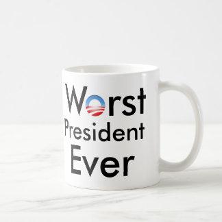 El presidente peor Ever - taza anti de Obama