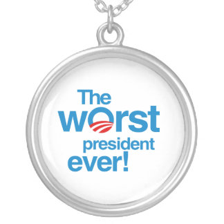El presidente peor nunca colgante redondo