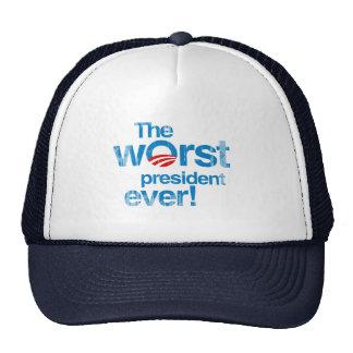 El presidente peor nunca Faded.png Gorros Bordados