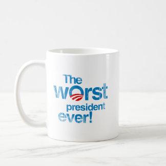 El presidente peor nunca Faded.png Taza Básica Blanca