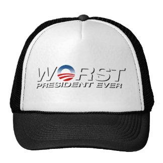 el presidente peor nunca gorras de camionero