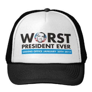 el presidente peor nunca gorros bordados