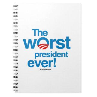 El presidente peor nunca libretas espirales