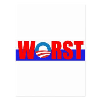 El presidente peor, Obama anti Postal
