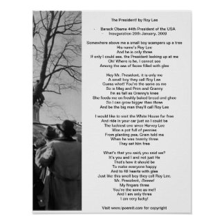 El presidente por el poema del poster de Roy Lee p