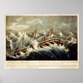 El presidente Poster de la nave del vapor