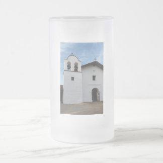 El Presidio de Santa Barbara Frosted Glass Beer Mug