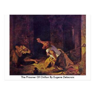 El preso de Chillon de Eugene Delacroix Tarjetas Postales