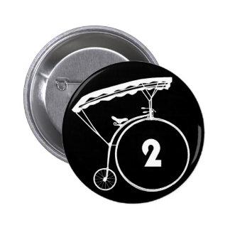 El preso número dos insignia de 2 botones pin redondo de 2 pulgadas