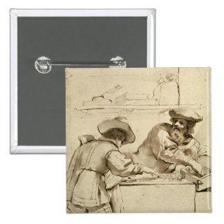 El prestamista pin cuadrada 5 cm