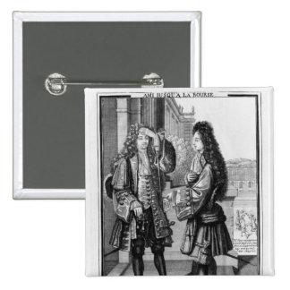 El prestamista y el prestatario pin cuadrada 5 cm