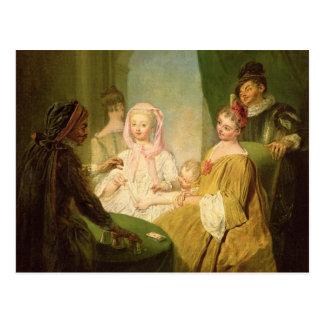 El prestidigitador, 1720-25 tarjeta postal