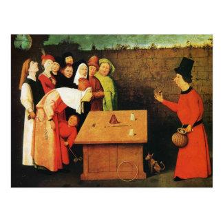 El prestidigitador de Hieronymus Bosch Tarjeta Postal