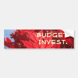 El presupuesto de las hojas de otoño invierte a pegatina para auto