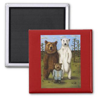 El pretendiente 3 con los osos imán cuadrado
