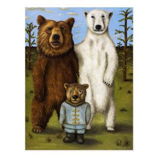El pretendiente 3 con los osos postales