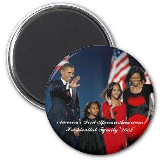 El primer afroamericano Presiden de América… Imán Redondo 5 Cm