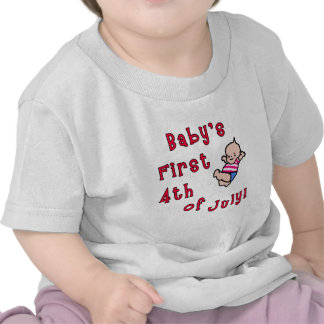 El primer cuarto del bebé de los productos de juli camiseta