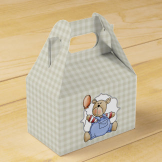 El primer cumpleaños de peluche del bebé de cajas para regalos de boda