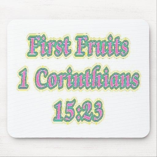 El primer da fruto 1 15:23 de los Corinthians Tapetes De Raton