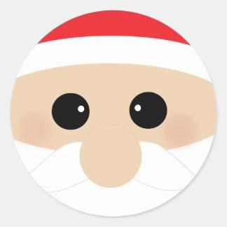 El primer de Santa divertido Pegatinas Redondas