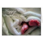 El primer día de madre feliz tarjetas