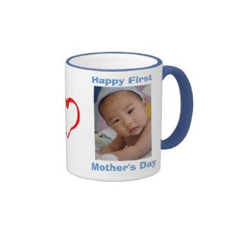 El primer día de madre taza de dos colores