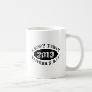 El primer día de padre taza de café