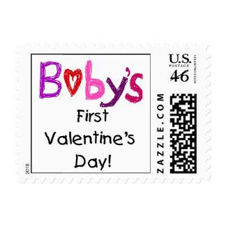 El primer el día de San Valentín del bebé Sellos