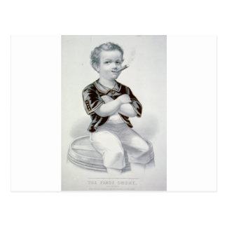 El primer humo 1870 postal