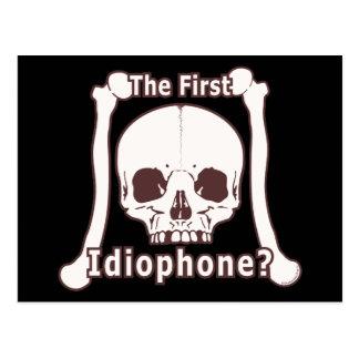 ¿El primer Idiophone? Postal