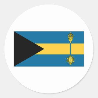 El primer ministro bandera de Bahamas Pegatinas Redondas