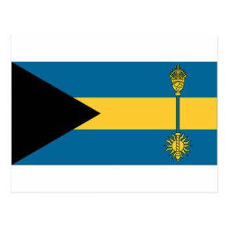 El primer ministro bandera de Bahamas Tarjetas Postales