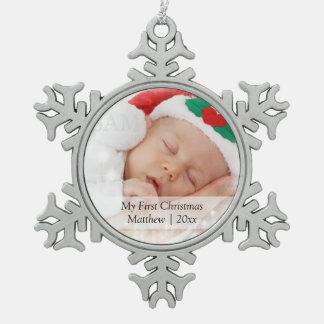 El primer navidad de Babys personalizó la plantill