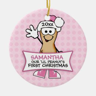 El primer navidad de nuestro cacahuete de Lil (ros Adorno De Reyes
