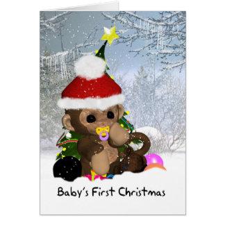 El primer navidad del bebé - 1ra tarjeta de Navida