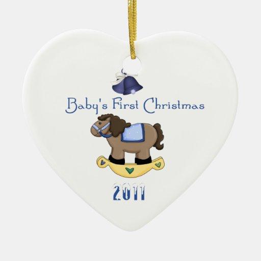 El primer navidad del bebé adorno de navidad