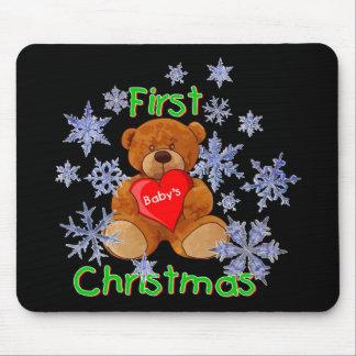 El primer navidad del bebé alfombrilla de ratones